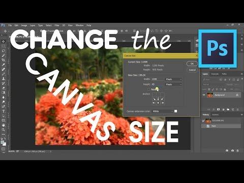 Change the Canvas Size | Adobe Photoshop CC