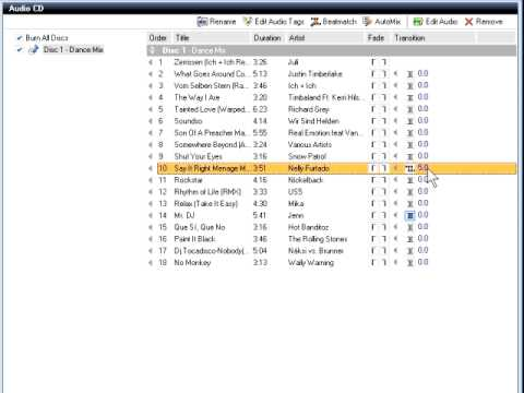 Create Beatmatched Music Mixes