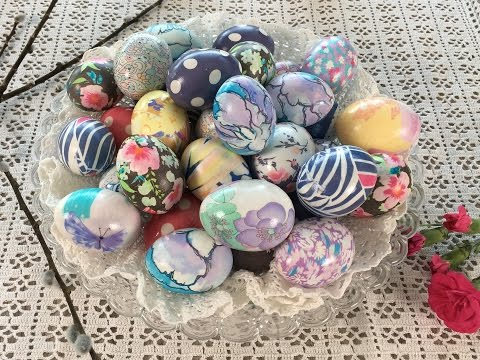 DYE EASTER EGGS WITH SILK - 2017