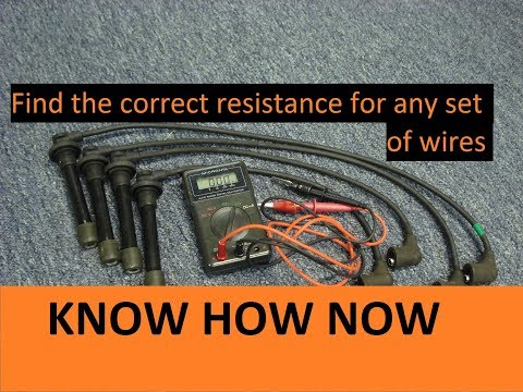 Test Spark Plug Wires With Multimeter