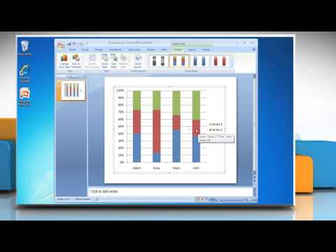 How to make a Column (Vertical Bar) Graph in Microsoft® PowerPoint 2007