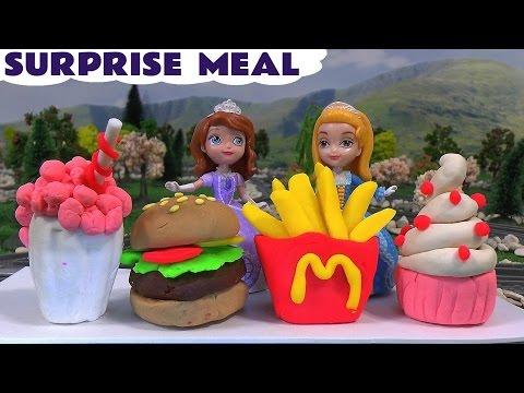 McDonalds Play Doh Surprise Meal Sofia The First Minions Dancing Princess Sofia Amber Thomas Train