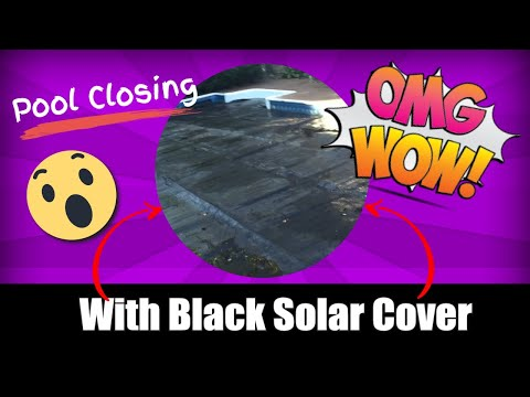 Pool Closing With Black Sun Cover IDK