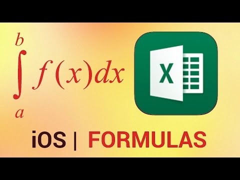 How to Build up Formulas in Excel for iPad