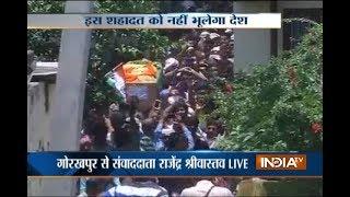 Pantha Chowk Terror Attack: CRPF officer Sahib Shukla body arrives in Gorakhpur