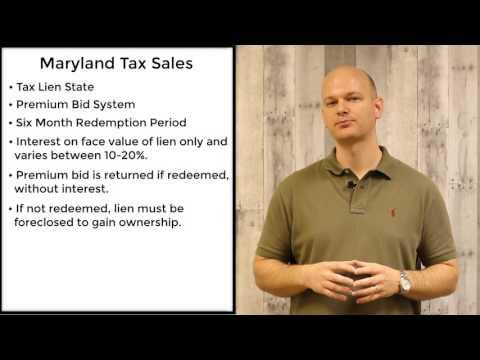 Maryland Tax Sales - Tax Liens