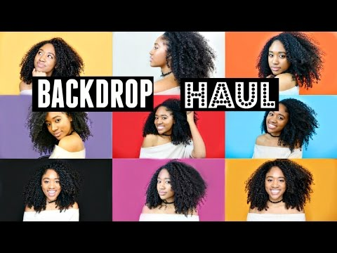 HUGE Backdrop Haul!!  Backgrounds for YouTube Videos!