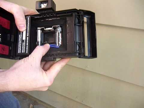 How to use, clean, and test a polaroid propack, reporter, ee100, or other pack film camera
