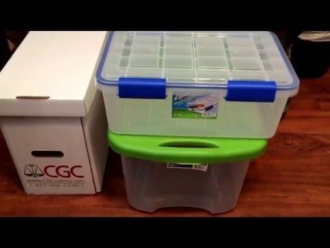 Storage for your CGC, PGX & CBCS Comics.  Graded comic book storage.  Ep. 36