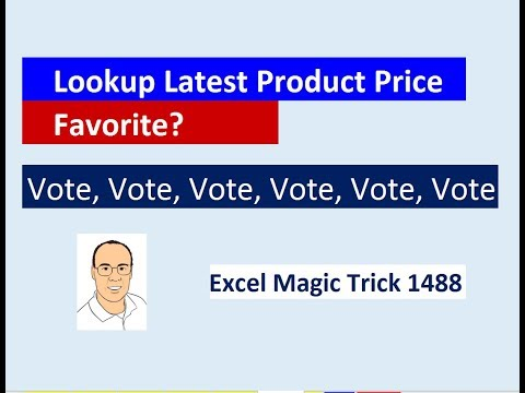 Excel Magic Trick 1488: Vote For Favorite Formula to Lookup Correct Price Based on Effective Date