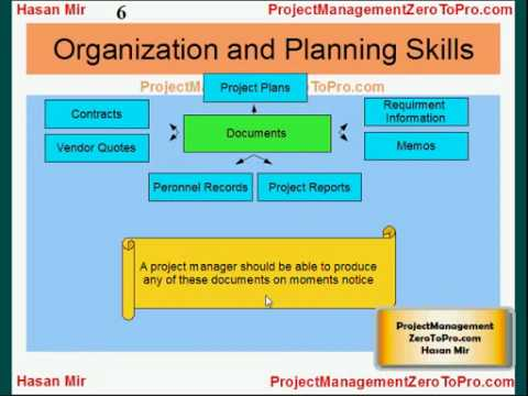 Project Management PMP - Organization and Planning Skills