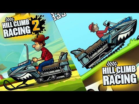 Shark Snowmobile   Hill Climb Racing 2 vs Hill Climb Racing 1