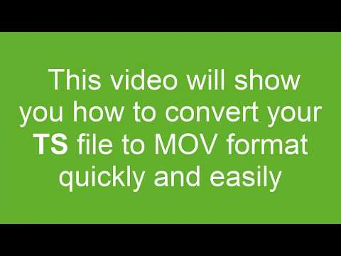 How to Convert TS to MOV