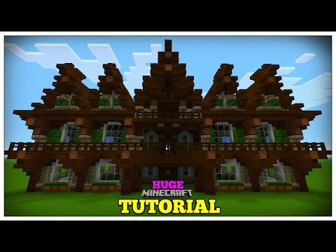 Minecraft: How To Build A Medieval House | Medieval Mansion Tutorial (Huge) 2016