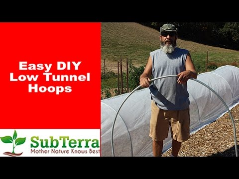 Easy DIY Low Tunnel Greenhouse Hoops