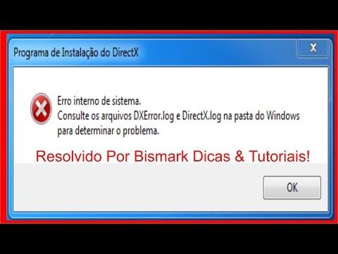 Erro DXError.log e DirectX.log /Resolvido - Instale o DirectX Sem Problemas!