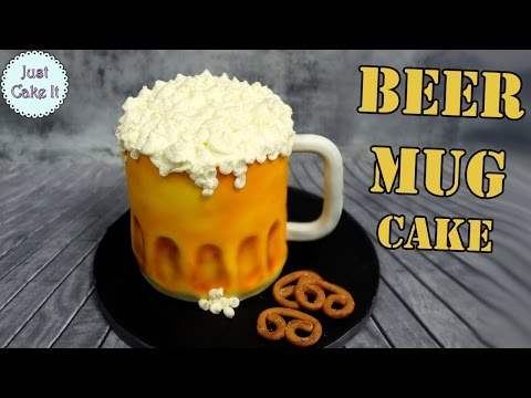 How to make beer mug 3d cake!