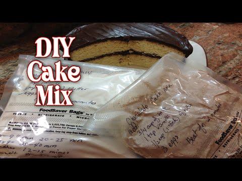 DIY Yellow and Chocolate Cake Mix