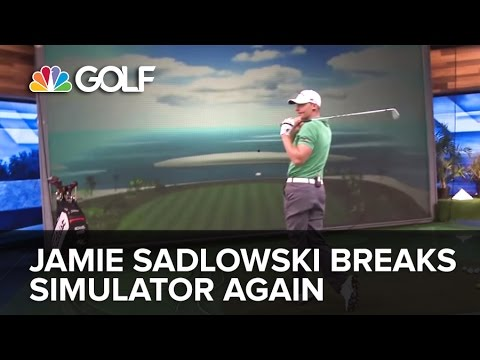 Jamie Sadlowski Breaks Golf Channel Simulator Again | Golf Channel