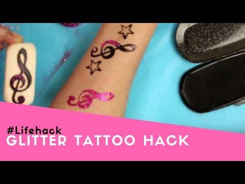 #Lifehack | Glitter Tattoo Hack | LaDot Cosmetics