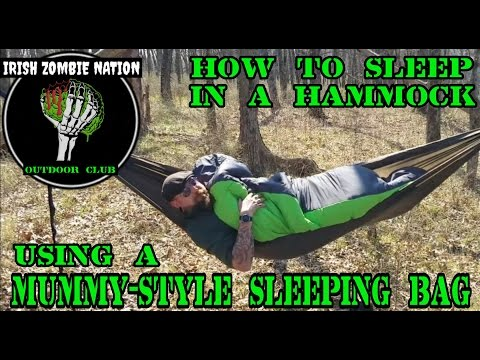 How to Sleep in a Hammock using a Mummy-Style Sleeping Bag