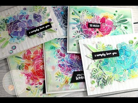 Studio Katia Lovely Blooms Card Set | Tonic Nuvo Shimmer Powders