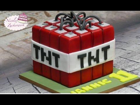 Minecraft TNT Fondant Torte | Motivtorte | Minecraft Cake von Nicoles Zuckerwerk
