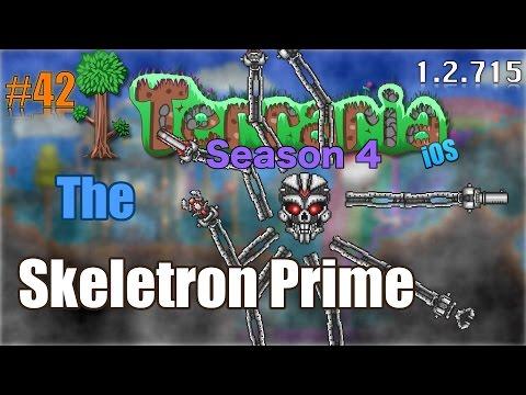 Let's Play Terraria (1.2.715) iOS- Skeletron Prime Battle! Episode 42