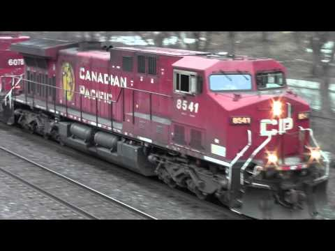 CP 234 with DME 6078 (ex CP) & WB Manifest with old CP Pacman scheme (CP 6018) @ Rosedale
