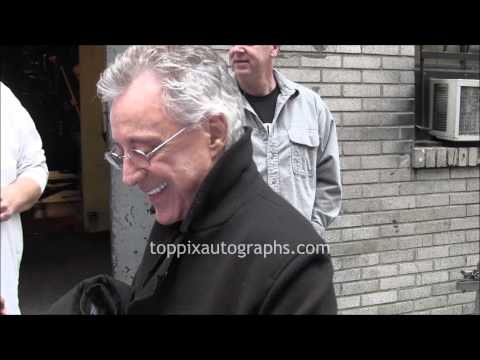 Frankie Valli - Signing Autographs at Broadway Show in NYC
