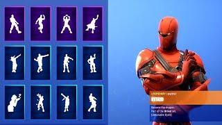 new season 8 skin hybrid with all fortnite dances new emotes - hybrid fortnite dragon stance