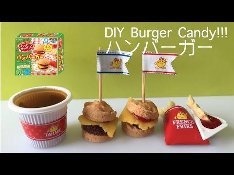 Kracie Happy Kitchen - Mini Burger & French Fries & Cola DIY CANDY KIT!!! クラシエフーズ ハッピーキッチンハンバーガー