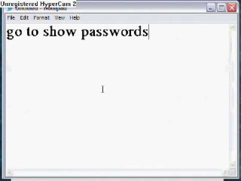 How to find your password incase you forgot it for internet