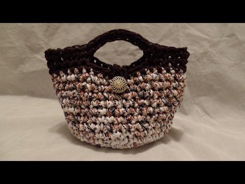 CROCHET How To Crochet T- Shirt Yarn #Crochet Purse Handbag #TUTORIAL #216 LEARN CROCHET