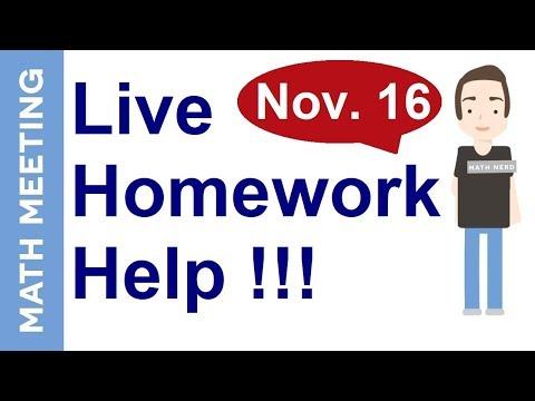 Live homework help - Algebra live stream and lesson