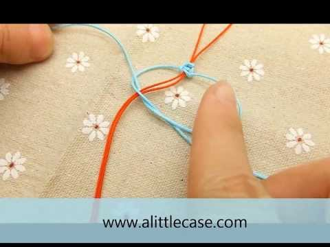 How to make a square knot - Square knot tutorial, knot instructions