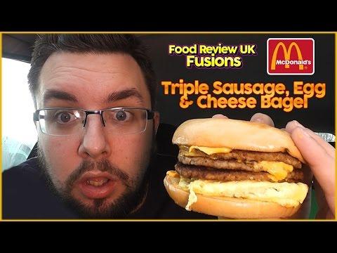 McDonald's Triple Sausage Bagel   Food Review UK Fusions