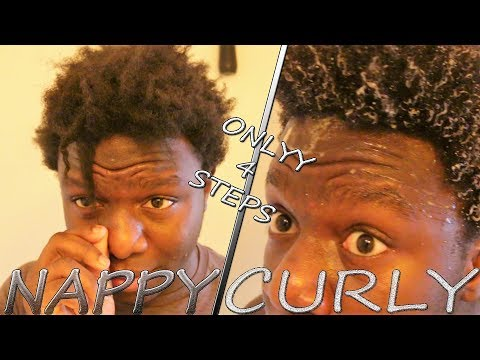 EASIEST WAY TO GO FROM NAPPY TO CURLY HAIR!! (EASY 4 STEP TUTORIAL) | IamAKA