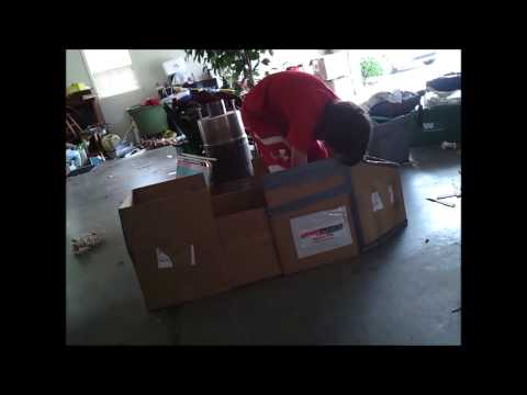 DUCT TAPE CARDBOARD BOAT TIME-LAPSE SPECIAL!!! Episode 1