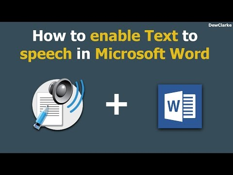 How to enable Text to Speech in Microsoft Word