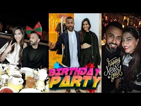 Sonam Kapoor Birthday Celebration With Hasband Anand Ahuja ! Anil kapoor