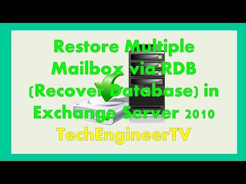 Restore Multiple Mailbox via RDB (Recover Database) in Exchange Server 2010