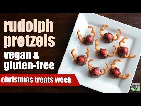 rudolph pretzels (vegan & gluten-free) Something Vegan Treats Week