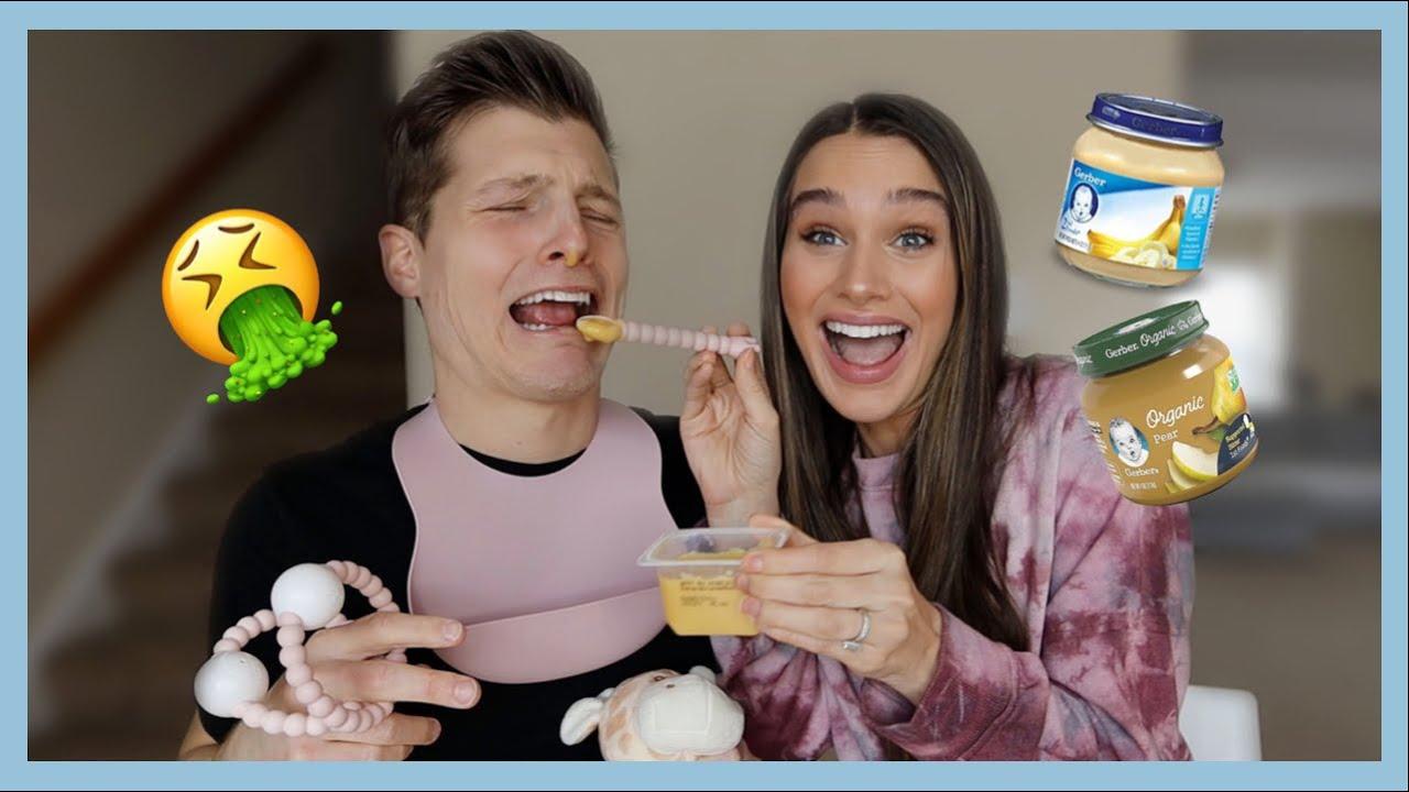 BABY FOOD CHALLENGE! | The Herbert's