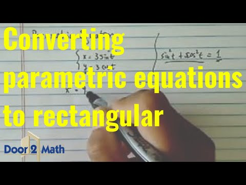 ^*Parametric Equation: Convert to Cartesian equation if  x = 3·sin(t) and y = 3·cos(t).