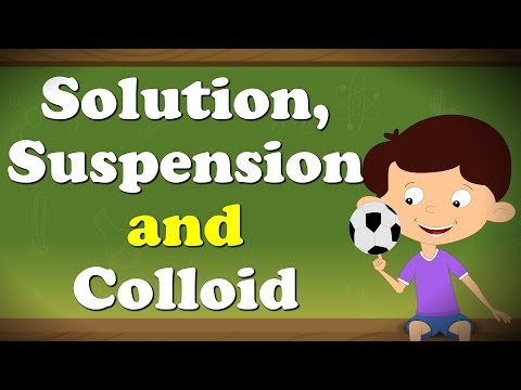 Solution, Suspension and Colloid | It's AumSum Time