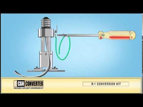 The Can Converter Model R1. How to Install, Pendant Lighting, Track Lighting, Flush Mount Lighting
