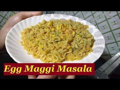 Egg Maggi Masala Recipe in Hindi   Street Style Egg Maggi Masala   Maggi Recipe in Hindi