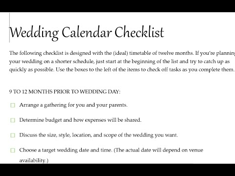 How to Get a Wedding Checklist from Microsoft Word 2016 Templates