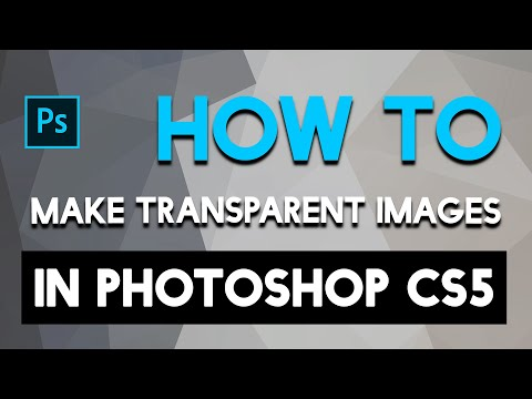 Photoshop'd - How To Make Transparent Images in Photoshop CS5